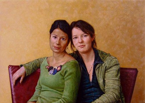 De zussen Fleur en Ireen Prinsen