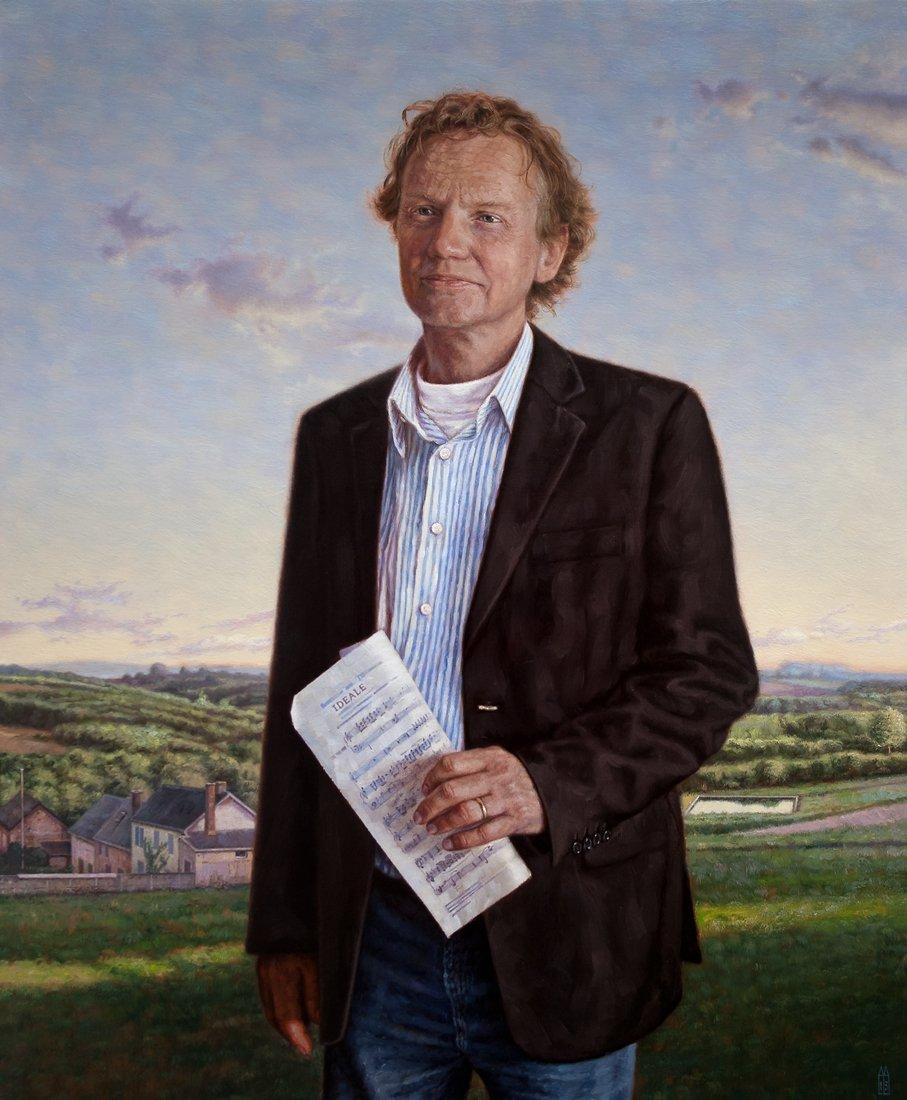 Portret man, schilderi...